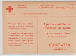 74-Posta Militare 2^Guerra-Franchigia Croce Rossa-v.12.5.44 Da Palermo Periodo AMGOT-Occupazione Alleata X Ginevra - Croce Rossa