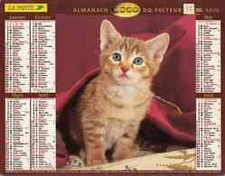 °° Calendrier Almanach La Poste 2000 Lavigne - Dépt 72 - Chaton Et Chiens - Grand Format : 1991-00