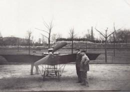 France Aviation Monoplan Saulnier ? Vue De Face Ancienne Photo Vers 1910 - Luftfahrt