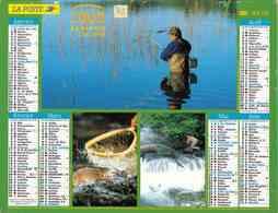 °° Calendrier Almanach La Poste 2002 Lavigne - Dépt 72 - Scènes De Pêche - Kalenders