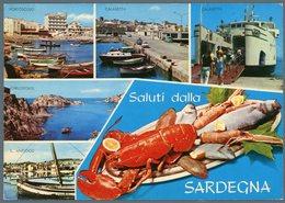 °°° Cartolina N. 126 Saluti Dalla Sardegna Vedutine Viaggiata °°° - Altre Città