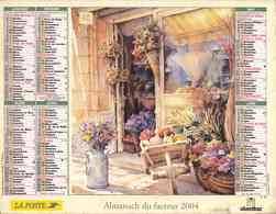 °° Calendrier Almanach La Poste 2004 Oberthur - Dépt 72 - Peintures Devantures De Boutiques - Kalenders