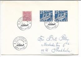 Postmark - Båt-Post -  Shipmail.  Stockholm Postmuseum.  Cover Sweden. H-606 - Post