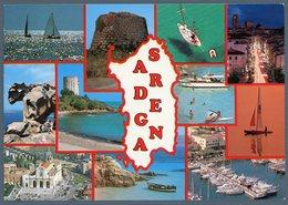 °°° Cartolina N. 127 Sardegna Vedutine Viaggiata °°° - Altre Città