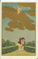 CARTE POSTALE FANTAISIE Illustration DEGANNI - Ange - Künstlerkarten