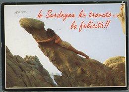 °°° Cartolina N. 129 In Sardegna Ho Trovato La Felicità Viaggiata °°° - Altre Città
