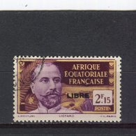 AFRIQUE EQUATORIALE FRANCAISE - Y&T N° 121° - Liotard Surchargé LIBRE - A.E.F. (1936-1958)
