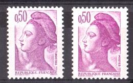 N° 2184 - Impression Légèrement Dépouillée (tp De Gauche) - Neuf ** - Type Liberté - Abarten Und Kuriositäten