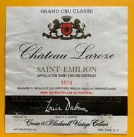 10802 - Château Laroze 1974 Saint-Emilion - Bordeaux