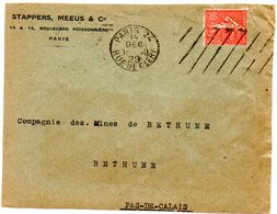 PARIS 24 / RUE De CLERY 1929 = FLAMME SAVAVA / KRAG Muette '9 Lignes Obliques Inégales' + Timbre Perforé STAPPERS MEEUS - Marcophilie (Lettres)