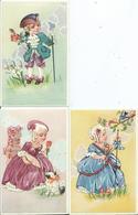 CARTE  FANTAISIE - Illustrateur BELGIQUE - Enfants Costumés - Lot De 3 - Illustrators & Photographers