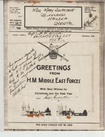 3-Airgraf Illustrato Natale -Militaria 2^Guerra-v.1-12-1943 Da M.E.F. A Bristol-Stati Uniti - Militaria