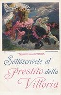 Painting By Costantino Grondona  Prestito Della Vittoria WWI Bergamo - Italien