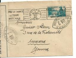 """Lettre Avec Censure Militaire Et N°452 """"Pour Nos Soldats""""  Quelques Semaines Avant L'armistice Du 22 Juin 1940 - France"""