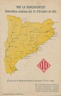 Mapa De Catalogna . Per La Mancomunitat . Assamblea 24/10/1913 - Espagne