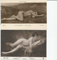 Femmes Nues Les Deux Cartes - Fine Nudes (adults < 1960)