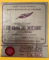 10810 - Château Le Clos Du Notaire 1985 Côtes De Bourg - Cahors