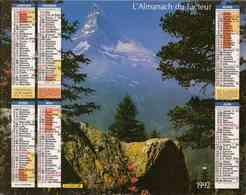 °° Calendrier Almanach La Poste 1992 Oberthur - Dépt 86 - Paysages Montagne - Calendriers