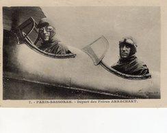 Freres Ludovic Et Paul ARRACHART - Aviateurs Paris-Basra 1926  -  CPA - Aviateurs