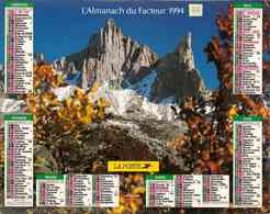 °° Calendrier Almanach La Poste 1994 Oberthur - Dépt 86 - Paysages Pyrénéens - Calendriers