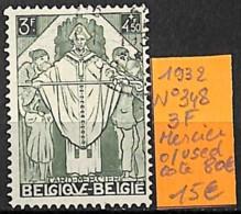 [831415]TB//O/Used-c:80e-Belgique 1932 - N° 348, 3f, Mercier - Belgium