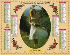 °° Calendrier Almanach La Poste 1995 Oberthur - Dépt 86 - Scènes Romantiques - Calendriers
