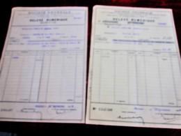 WWII-1939-2 LOTS ACHAT ACTIONS TITRES-OBLIGATIONS 400fr-VILLE PARIS 1910 -3%-Relevé Numérique-SOCIÉTÉ GÉNÉRALE CHINON - Aandelen