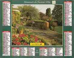 °° Calendrier Almanach La Poste 1996 Oberthur - Dépt 86 - Terrasse Et Allée Fleurie - Calendriers