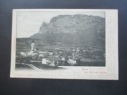 Österreich 1902 Gruss Aus Völs Am Schlern Strichstempel Und Ak Stempel Muenchen 2 BPB Christian Masoner, Völs - Gruss Aus.../ Grüsse Aus...