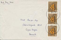 Ceylon Cover FDC Sent To Denmark 1-12-1954 - Sri Lanka (Ceylan) (1948-...)