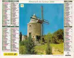 °° Calendrier Almanach La Poste 2000 Oberthur - Dépt 86 - Moulin Et Cascade - Calendriers