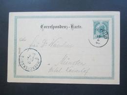 Österreich 1902 Ganzsache Stempel K1 Campitello Nach München Hotel Kaiserhof Ak Stempel Muenchen 2 BPB - Briefe U. Dokumente
