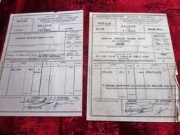 1949/50 -2 LOTS ACHAT ACTIONS Relevé TITRES-OBLIGATIONS 1000fr-VILLE De PARIS 1930/1932-SOCIÉTÉ GÉNÉRALE CHINON - Aandelen