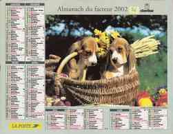 °° Calendrier Almanach La Poste 2002 Oberthur - Dépt 86 - Chiots Dans Leur Panier - Kalenders