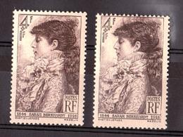 """Cornes Sur Le Tête"" / ""ébouriffée"" - N° 738 - Neuf ** - Sarah Bernhardt - Varieteiten: 1945-49 Postfris"