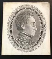 BANCO DEL ECUADOR GUAYAQUIL ~ 1870 De La Rue Simon Bolivar Essay For Banknote (paper Money, Billet De Banque - Ecuador