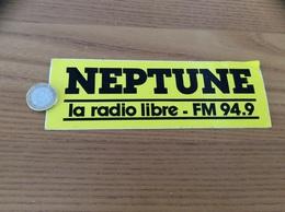 AUTOCOLLANT, Sticker «NEPTUNE La Radio Libre FM 94.9 » (radio BREST 29) - Autocollants