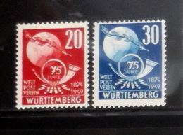 ALLEMAGNE  WURTTEMBERG     Neuf Sans Charnière  N°  51/52   N**  Anniversaire De L'UPU 1949 - Französische Zone
