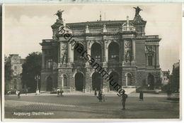 Augsburg - Stadttheater - Foto-Ansichtskarte - Augsburg