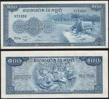 Cambodia P 13 B - 100 Riels 1956 1972 - UNC - Cambodia