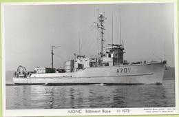 AJONC  Bâtiment Base  11-1973   / Photo Marius Bar, Toulon / Marine - Bateaux - Guerre - Militaire - Warships