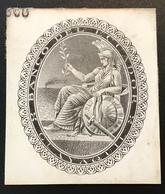 BANCO DEL ECUADOR GUAYAQUIL ~ 1870 De La Rue Essay For Banknote Minerva ? God Mythology (paper Money, Billet De Banque - Equateur