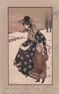 Liberty  -  Le Gradazioni Del Marrone  -  Ill. E. Parkinson  -  Edit.  M. M. VIENNE  ,  Nr. 195 - Parkinson, Ethel