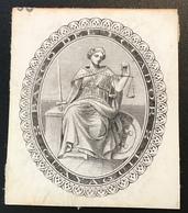 BANCO DEL ECUADOR GUAYAQUIL ~ 1870 De La Rue Banknote Essay Themis Justice God Mythology(paper Money, Billet De Banque - Ecuador