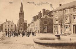 Paliseul - Grand Rue Et église - Anmation - Pas Circulé  - Edit. Bodson-Labbé - SUPER - Paliseul