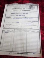 1932--RÉCÉPISSÉ DE DÉPÔT ACHATS ACTIONS TITRES-OBLIGATIONS 1000fr Ville Paris 2%1929- SOCIÉTÉ GÉNÉRALE CHINON-Fiscal - Aandelen