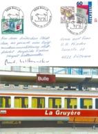 Bulle - La Gare - Train La Gruyère  (Sonderstempel)               1996 - FR Fribourg