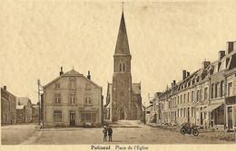 Paliseul -Place De L'église, 2 Enfants Et Une Moto - Circulé  - Copyright P.B.L. - SUPER - Paliseul