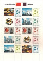Qatar** 2018, Diplomatic Relations With China, Limited Sheetlet Of 10 Stamps - Qatar