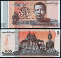 Cambodia P 65 - 100 Riels 2014 - UNC - Cambogia